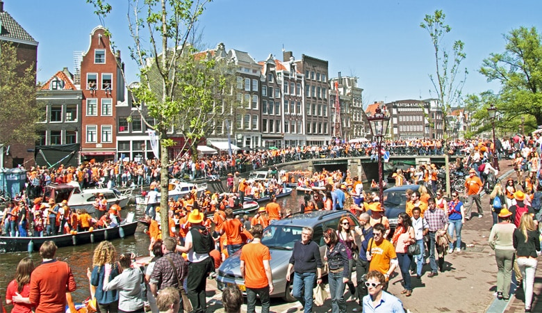 Königstag in Holland Amsterdam