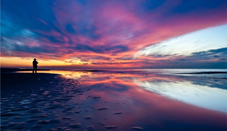 Schöne_Strände_Holland_Unterkunft_Sunset