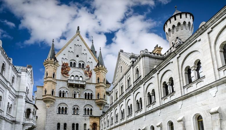 Schloss Neuschwanstein_Architektur Innenhof