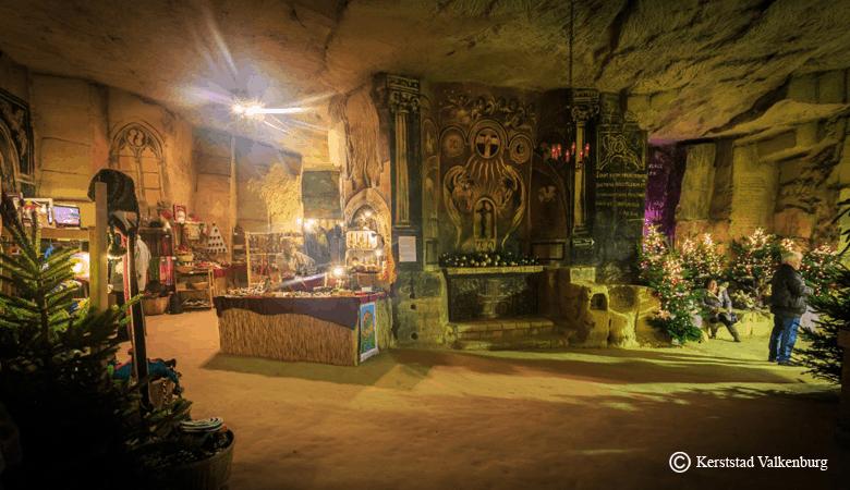 unterirdischer Weihnachtsmarkt Valkenburg