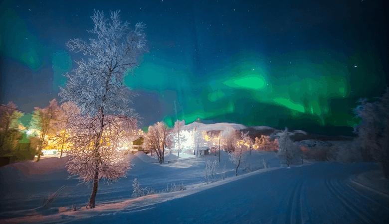 Kurzurlaub über Ostern - Polarlichter Kiruna