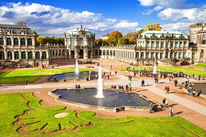 Dresden, Zwinger, Garten, Sommer