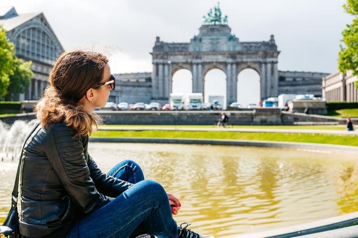 Woman in Brussels