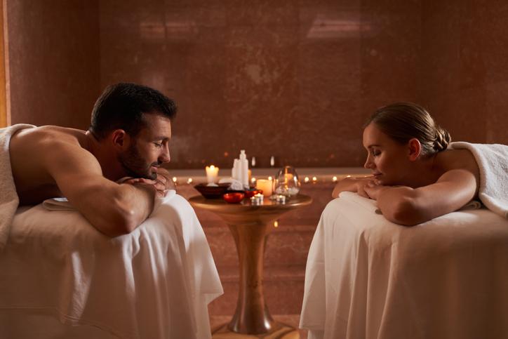Couple doing wellness
