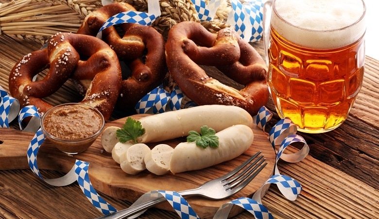 Weißwurst, Brezeln und Bier