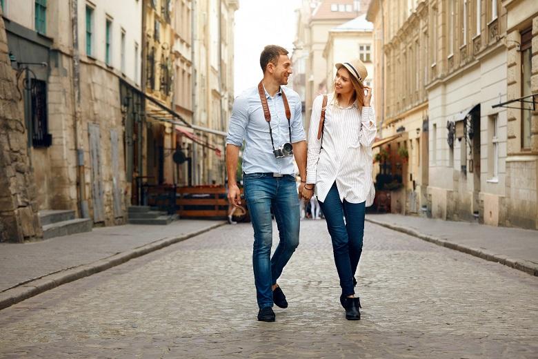 Paar in Hessen Städtetrip
