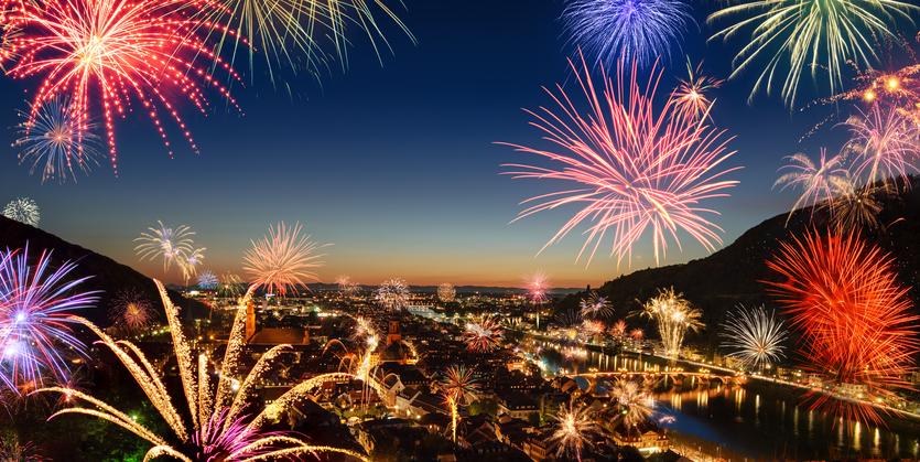 Feuerwerk in Heidelberg