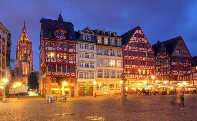 Schöne Altstadt in Frankfurt