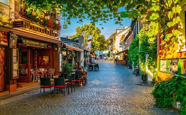 Schöne Altstadt Rüdesheim am Rhein
