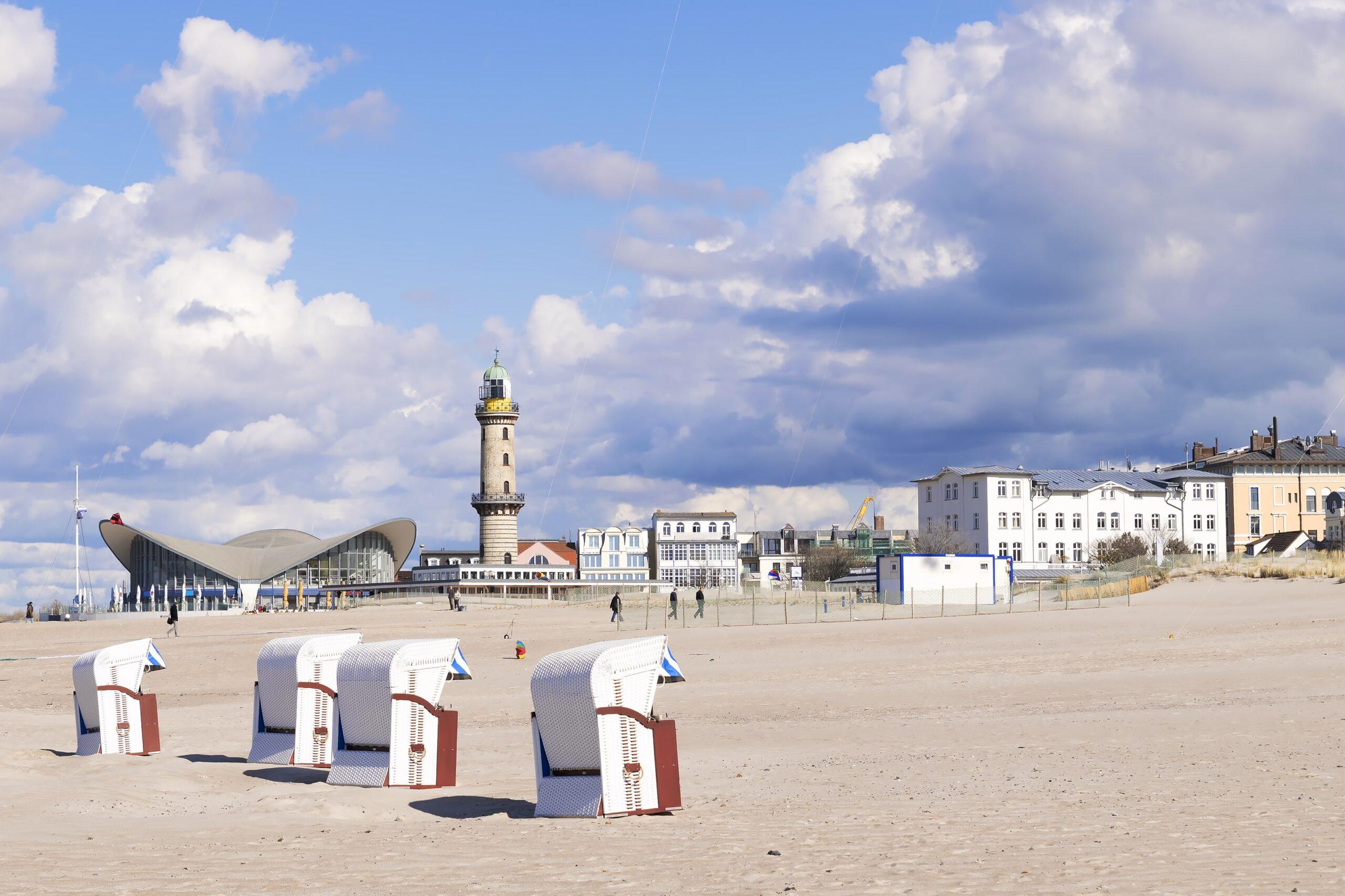 Strandkörbe in Warnemünde, Rostock